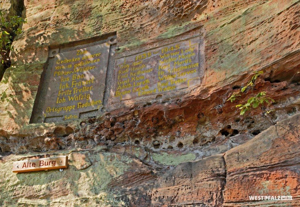 Gedenktafel an der Alten Burg