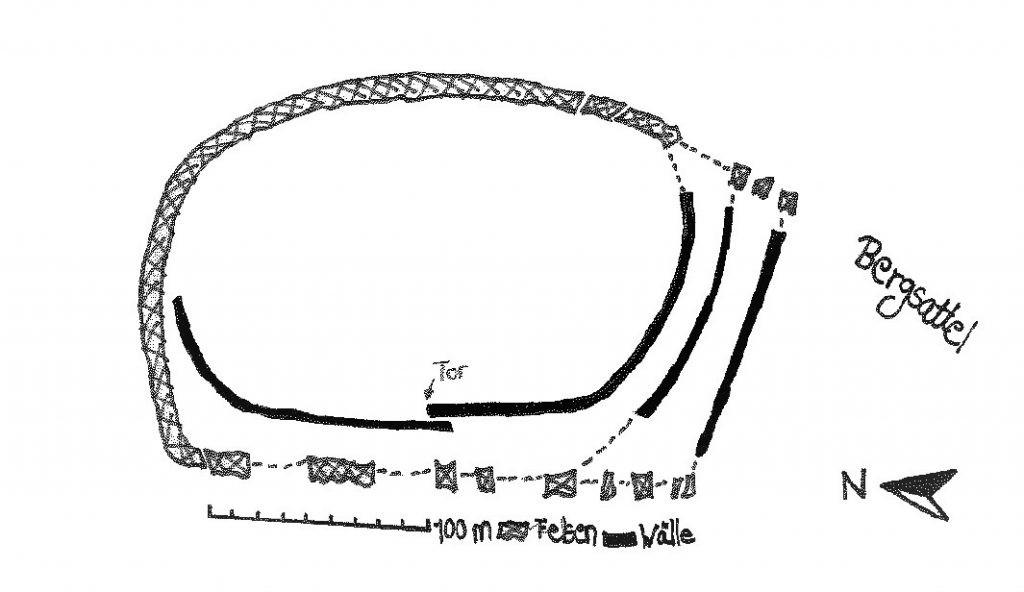 Grundriss der Alten Burg (nach :LANNINGER 1953,S.53)
