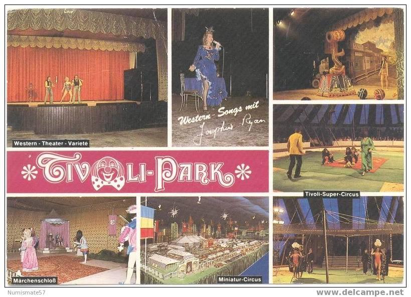 Alte Postkarte des Tivoli-Parks