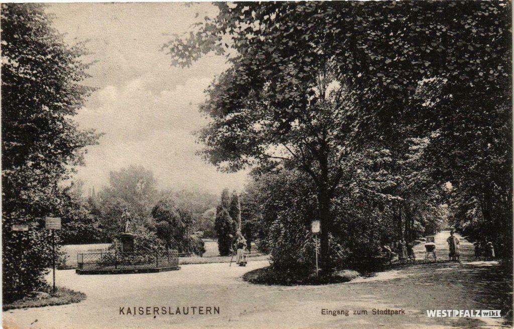 Eingang Stadtpark im Jahr 1912