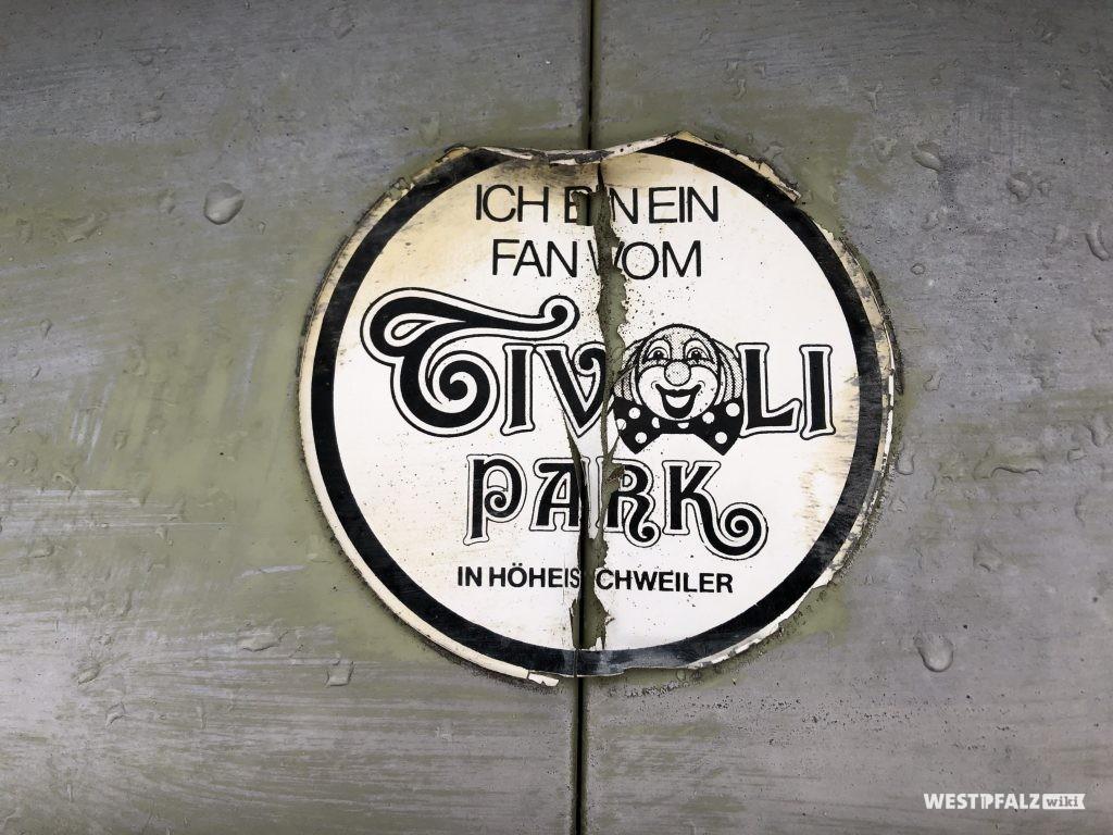 Aufkleber des Tivoli-Parks