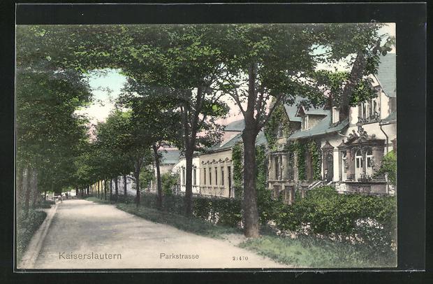 Stadtpark an der Parkstraße im Jahr 1919