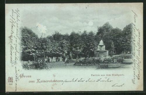 Stadtpark in Kaiserslautern im Jahr 1899