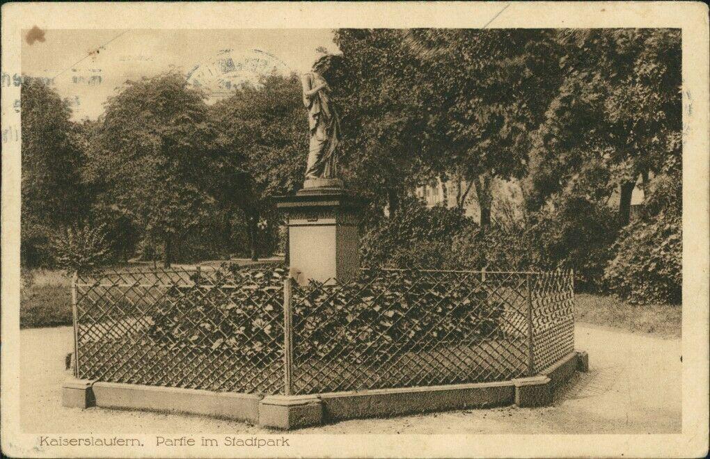 Stadtpark Kaiserslautern im Jahr 1928