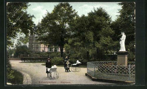 Stadtpark in Kaiserslautern im Jahr 1914