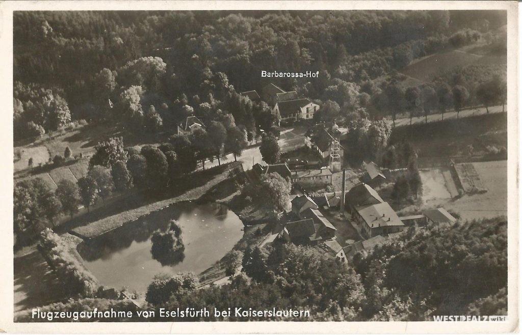 Flugzeugaufnahme von der Eselsfürth bei Kaiserslautern