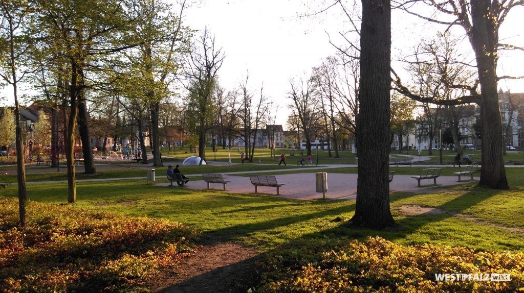 Der Stadtpark in Kaiserslautern heute
