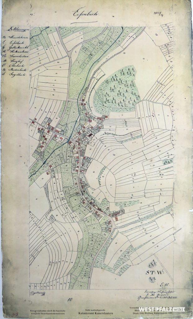 Karte von 1833