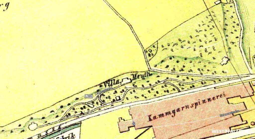 Ehemaliger Standort der Villa Meuth mit dazugehöriger Parkanlage