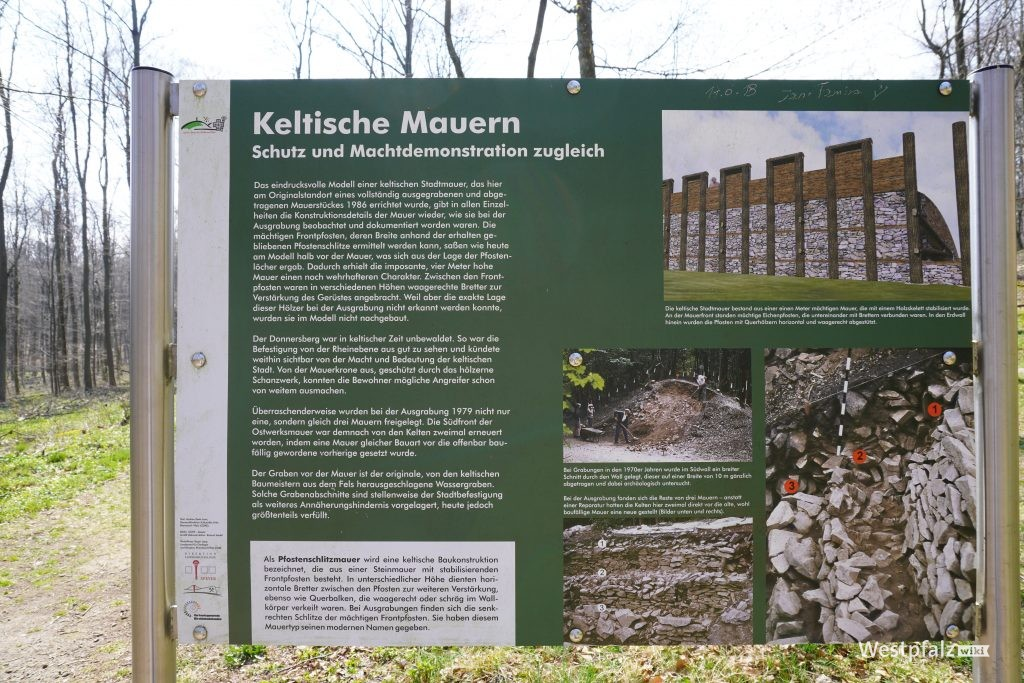 Informationstafel am Ringwall auf dem Donnersberg