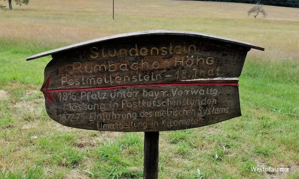 Informationsschild am Stundenstein bei Rumbach