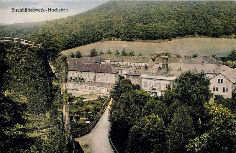 Früherer Blick vom Felsengarten auf das Eisenhüttenwerk